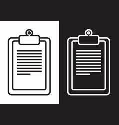 paper clipboard icons vector image