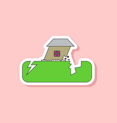 Paper sticker on stylish background natural vector