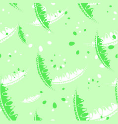 Pattern of cute leaves and petals of garden vector