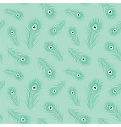 Peacock feather monochrome seamless pattern vector image