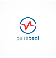 Pulse beat logo vector