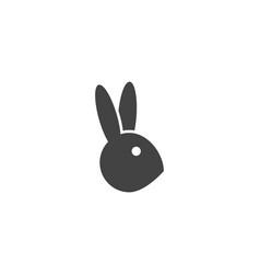 rabbit logo template vector image