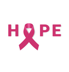 realistic breast cancer icon with pink awareness vector image