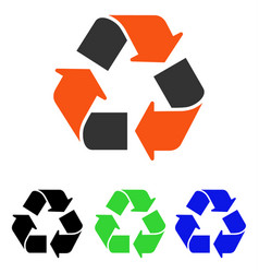 Recycle flat icon vector