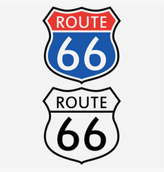 route 66 sign set vector image