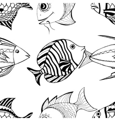 Seamless fish vector image