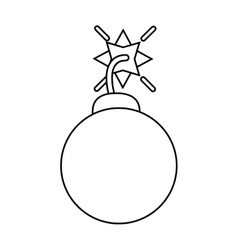 Security system concept bomb icon outline vector