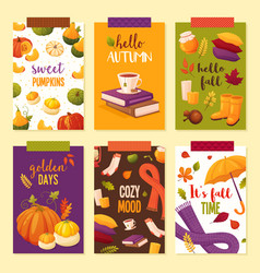 set autumn banners vector image