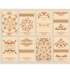 Set booklet design template floral ornamental vector image