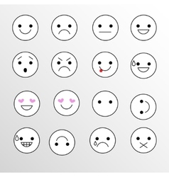 Set Emoji icons for applications and chat vector image