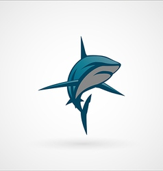 Shark blue emblem logo sign vector