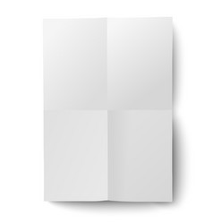 sheet of white paper folded and then unfolded vector image