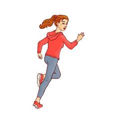 sketch running man ranaway character vector image