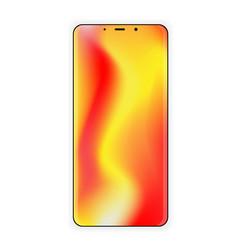 smartphone template new gradient screen vector image vector image