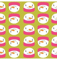 snowman with speech bubble seamless pattern vector image