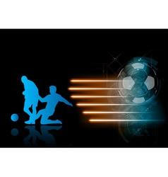soccer modern background blue vector image