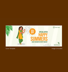 special offer happy summers cover page vector image