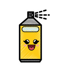 spray can cartoon smiley vector image