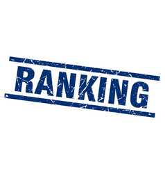 Square grunge blue ranking stamp vector