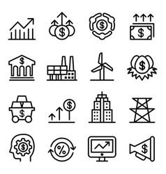 Stock market exchange icons vector