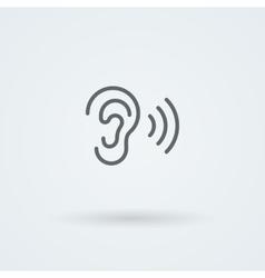 Stock minimalist icon ear vector