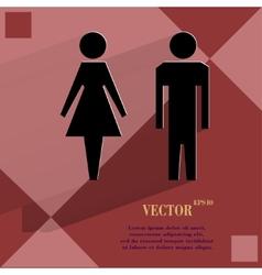 Suluet men women Flat modern web design on a flat vector