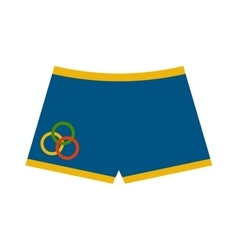 Swimming trunks summer shorts clothes vector image