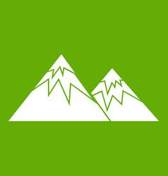 swiss alps icon green vector image