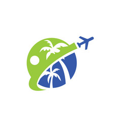 Travel tropic holiday logo vector