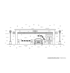 Underground parking graphic design vector image