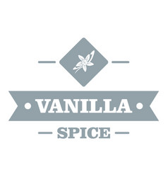 Vanilla spice logo simple gray style vector