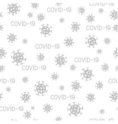 Virus epidemic seamless pattern backdrop with of vector