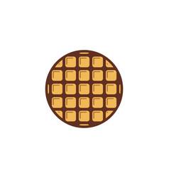 Waffle round logo design inspiration vector