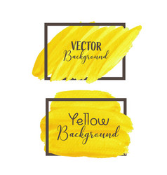 yellow brush stroke isolated on white background vector image