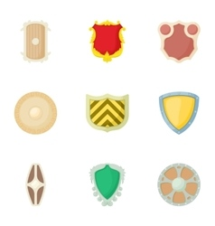 Army shield icons set cartoon style vector image vector image