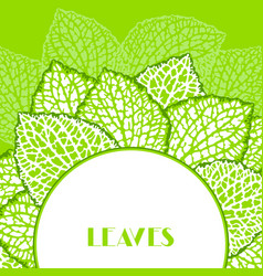 background with decorative leaves natural vector image vector image