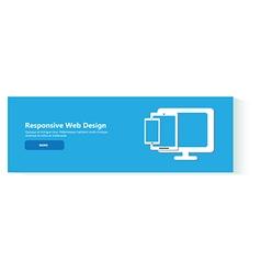 banner responsive web design vector image vector image