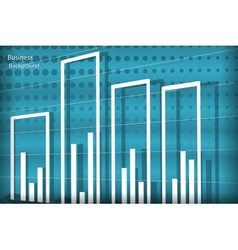 diagram business background vector image vector image