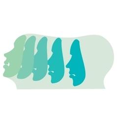 Emotion and expression masks vector image vector image