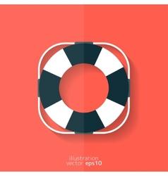 Lifebuoy web icon vector image vector image