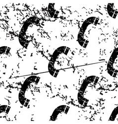 Phone receiver pattern grunge monochrome vector