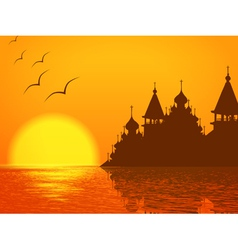 Religion Scenery with Church Cupola vector image vector image