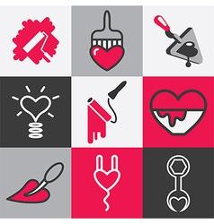 Repair logo icons vector