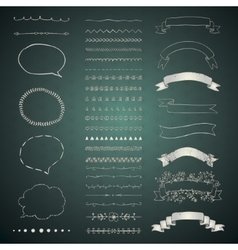 Set of Decorative Hand Drawn Design vector image vector image
