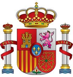 spain royal emblem vector image vector image