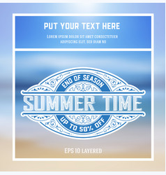Summer time card vector
