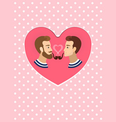 valentine s greeting card gay homosexuals couple vector image
