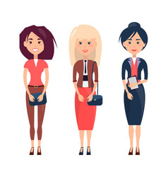 women collection on poster vector image