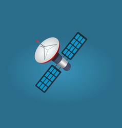 cartoon artificial satellite isolated vector image