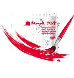 paintbrush and strokes vector image vector image